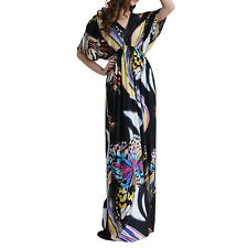 UK 20-34 Plus Size Woman Summer Maxi Long Evening Party Dress 2-6X US 18-32 1161
