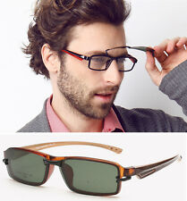 Men Sport Outdoor New TR90 Eyeglass Frame Sunglass Driving Glasses with clips