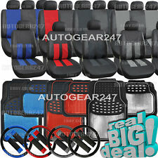 Leather Look Car Seat Covers,Set of 4 Shiney Mettalic Rubber Car Mats or Package