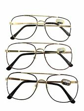 BLACK - BROWN OR BROWN TORTOISE SHELL & GOLD AVIATOR READING CHEATERS GLASSES