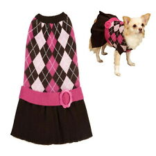 Dog Dress Winter Knit XS S  - Chihuahua Puppy Pet Clothes Jumper Sweater Coat