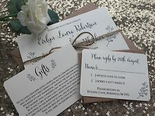 Vintage/Rustic 'Evelyn' wedding invitation/RSVP/Gift card SAMPLE- ivory