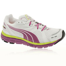 Puma Womens Faas 600 White Purple Cushioned Road Running Trainers Sneakers Shoes