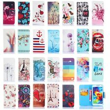 Pattern Stand Flip Wallet PU Leather Case Covers For Samsung Galaxy Cell Phone