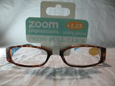 Zoom Impressions Blue or Green Modern Style Reading Glasses +1.25 1.50 2.00