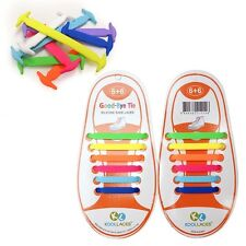 [Koollaces] Patented Anchor Type Silicon Fashion Shoe Laces For Kids 12 pcs