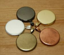 10 x 25mm Round Pendant Trays Circle with smooth back