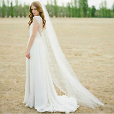 New White/Ivory 1T/2T 3M Wedding Bridal Long Veil Cathedral With Comb