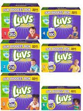 Luvs Ultra Leakguard Disposable Boy Girl Unisex Baby Diapers Size 1 2 3 4 5 6