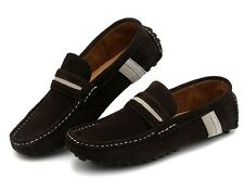 New Mens Slip On Loafers suede leather casual moccasin-gommino driving shoes