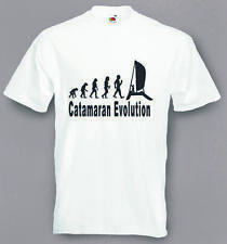 Evolution To Catamaran t-shirt Funny Sailing Boat T-shirt sizes Sm To 2XXL