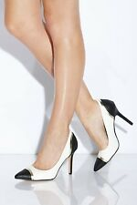 Paper Dolls Black and White Perspex Court Heel