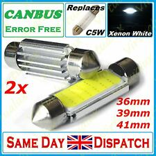 C5W CAR BULB LED ERROR FREE CANBUS COB XENON WHITE FESTOON NUMBER PLATE INTERIOR