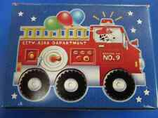 Fire Engine Fun Truck Firefighter Birthday Party Favor Gift 12 pc Jigsaw Puzzle