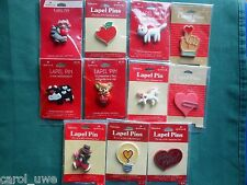 HALLMARK PIN Valentine Day Holiday Jewelry Lapel Pin YOU CHOOSE YOUR PIN-A1