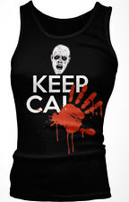 Keep Calm Zombie Blood Hand Print Dead Walking Carry On Undead Girls Tank Top