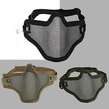 New Tactical Hunting Metal Mesh Airsoft Paintball Protective Gear Half Face Mask