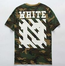 Off White C/O Virgil Abloh Pyrex Vision 2015 summer new camouflage tee t-shirt