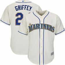2015 Ken Griffey Jr Seattle Mariners Alternate Ivory Cool Base Jersey Men's