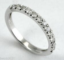 14K White Gold 0.31 Carats Diamond Wedding ring band + Free 2 year Warranty