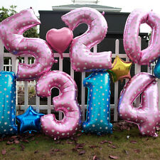 Useful Large 40'' Number 0 to 9 Foil Giant Birthday Wedding Party Balloon Decor