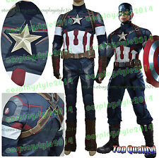 Avengers Captain America Age of Ultron Cosplay Costume Steve Rogers AOU Uniform