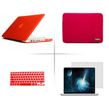 Matte Hard case Sleeve bag Screen protector Keyboard cover For Apple macbook