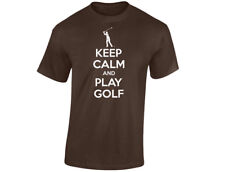 Keep Calm And Play Golf Kids Funny T-Shirt Unisex (12 Colours)
