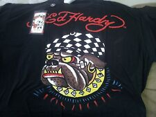 Ed Hardy T-Shirt Bulldog LA Death or Glory Speed Kills Christian Audigier Men's