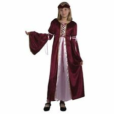 Child Girls Renaissance Medieval Tudor Princess Queen Costume SML CC543/4/5