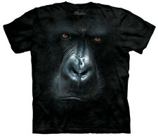 Gorilla Face Close Up In The Mist Adult T-Shirt Tee