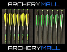 """6 VICTORY ARROWS/ BOLTS FOR CROSSBOW 20""""OR 22"""" ( HALF MOON AND FLAT NOCKS)"""