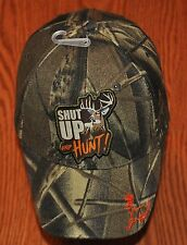New Camo Camouflage Blaze Orange Shut Up and Hunt Hat Deer Hunter Hunting