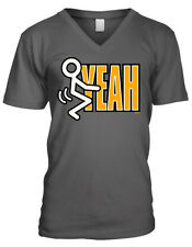 F**k Yeah Stick Figure Screw Hell Yes Party Do It Beer Sex Men's V-Neck T-Shirt