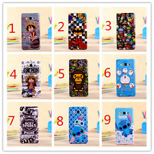 Cartoon Kitty Stitch Luffy Rubber Cover Case for Samsung Galaxy A5 A7 E7 G5308