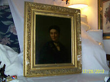 "Antique c1800's ""Large"" Portrait Painting Original Oil On Canvas"