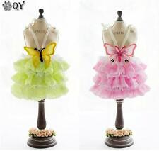 NEW Clothing For Dogs Pet Puppy Dog Clothes Butterfly Lace Party Dog Dress XS-XL
