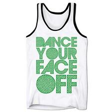 Dance Your Face Off Rave Music Party Festival Summer Holiday Ibiza Mens Gym Vest