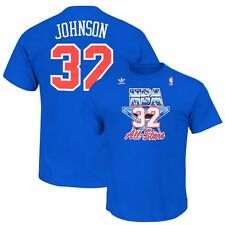 Magic Johnson ADIDAS 1991-92 NBA All Star Soul Swingman (Blue) T Shirt Men's