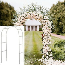 7.5 Ft White Metal Arch Wedding Garden Bridal Party Decoration Prom Flower Decor
