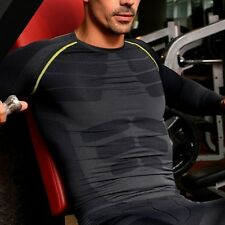 Men's Compression Skin Base Layer Tight Tee Shirt Tops Training Gym Workout M-XL