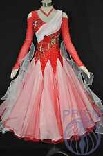 Standard Ballroom Competition Dress Modern Waltz Tango Handmade Dance Dress 2837