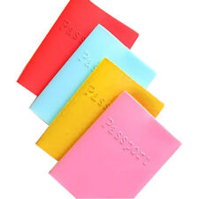 Silicone Candy-colored Passport Waterproof Cover Case Travel Wallet Elegant