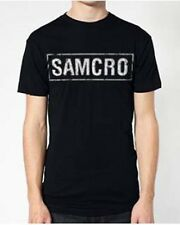 AUTHENTIC SONS OF ANARCHY 100% COTTON SAMCRO  MEN'S T-SHIRT BLACK- 2814