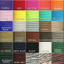 550 Paracord Parachute Cord Lanyard Mil Spec Type III 7 Strand Core 50FT 100 FT