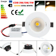 3W 5W 7W Dimmable COB LED Ceiling Recessed Downlight Energy Saving Lamp 110/220V