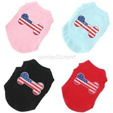 Hot Small Puppy Clothes Pet Dog Cat T-shirt Summer Vest Tank Top Size XS-3XL U41