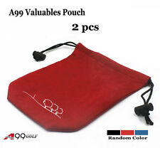 "2x Large Golf valuable pouch Jewelry accessories bag 8 1/4"" x 6 3/4"" (21 x 17cm)"