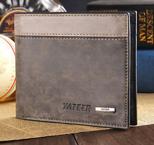 Bifold Men Leather Wallet ID Business Credit Card Holder Purse Clutch Pockets HS