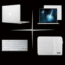 White Sleeve bag Satin Hard Case keyboard cover For Apple macbook Pro Air White